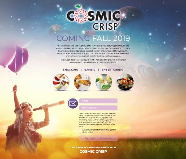 Cosmic Crisp Landing Page