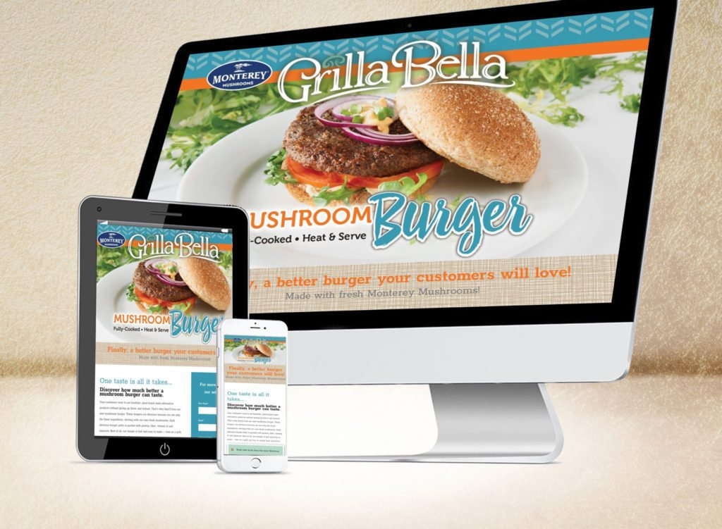 Monterey Mushrooms-Grillabella Landing page